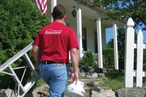 radon contractor entering home
